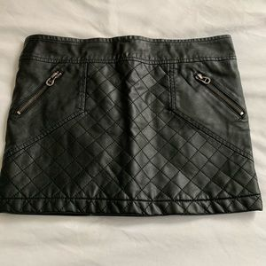 Foreign Exchange black leather skirt